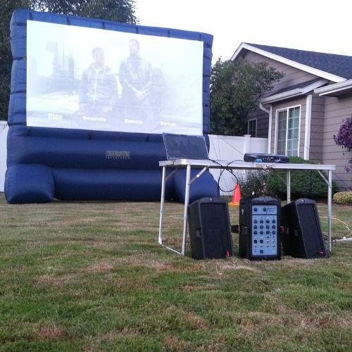 Backyard Movie Night - Backyard Movie Night: Outdoor Movies - Source One RentalsSource One