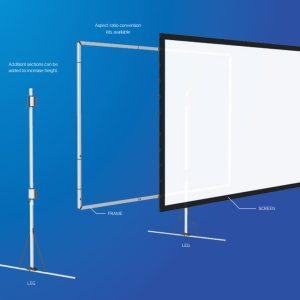 Fast-Fold Projector Screen Diagram
