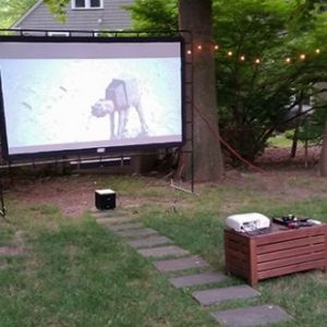 Backyard Movie Night Projector Rentals
