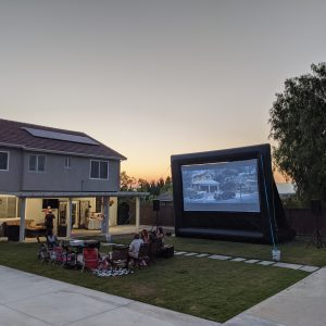 Bright HD Projector Rental for Backyard Movie Night